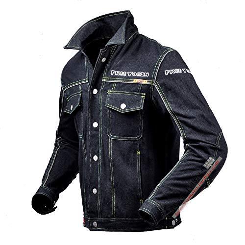 Free yogin Motorrad Motorradjacke GüRtelschutz Cowboy-Kleidung Fahrradanzug Freizeit Drop-Proof-Anzug MäNnlich 715,XL/46chest