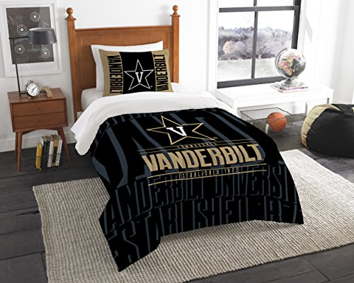 Northwest NCAA Vanderbilt The COMMODORES NCAA Twin Tröster & Sham, schwarz