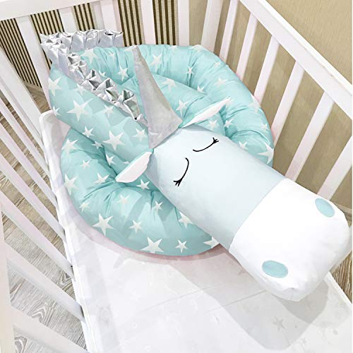 i-baby Nestchen 3D Cartoon Animal Head Guard Bumper Kinderzimmer Betten Bumper Innen Schutz für Kinderbett