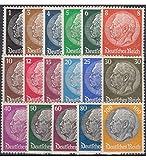 Goldhahn Deutsches Reich Nr. 512-528 postfrisch ** Hindenburg - Briefmarken für Sammler
