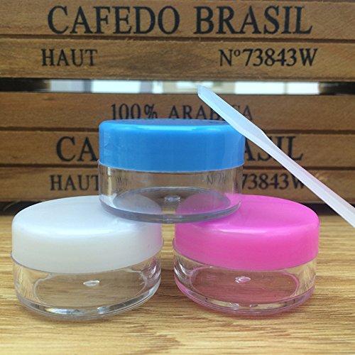 18 PCS 10 gramme Pot de Crème Vide En Plastique Cosmétique Récipient transparent pot Petit Échantillon Maquillage nail poudre