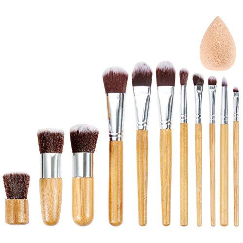 rovtop-set-11-pennelli-per-trucco-professionali-di-bambu-con-1-spugnetta-trucco-pennello-per-fondoti