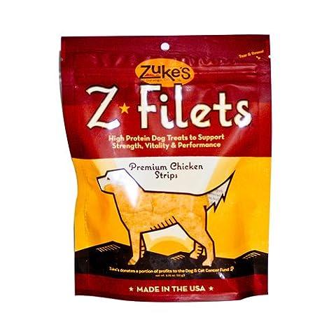 Zukes Z Filet Prime Chicken Strips High Protein Healthy Dog Chew Treats 3.25z