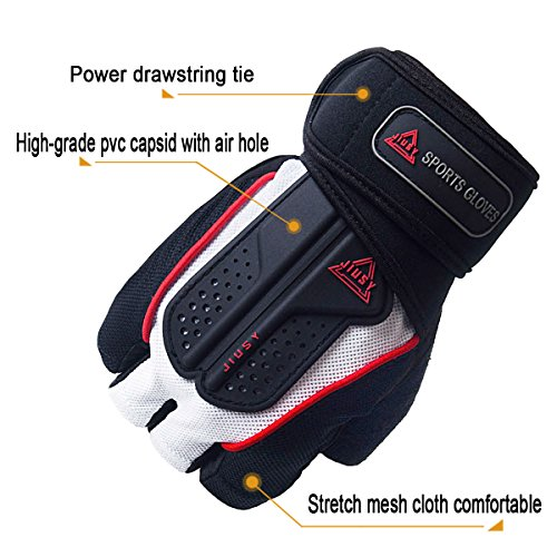 WTACTFUL-Strong-Power-Gym-Gloves-Cross-Training-Weight-Lifting-Dumbbell-Sports-Barbell-Fingerless-Half-Finger-Gloves-Fitness-Workout-Size-Medium-White
