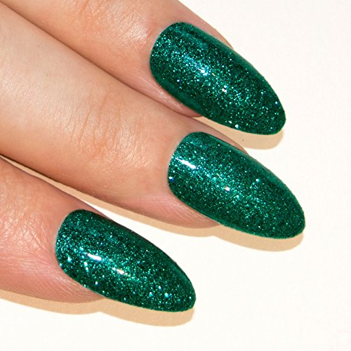 bling-art-stilett-falsche-nagel-gel-acryl-24-grun-glitter-mittel-tipps