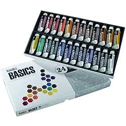 Liquitex Basics - Juego de tubos de pintura acrílica (24 unidades)