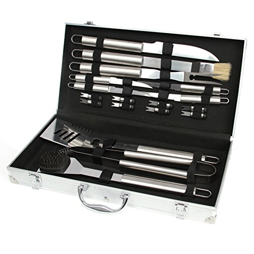 Barbecue Set 18-Piece Barbecue Utensils Grill Set Barbecue Tool Set with Case