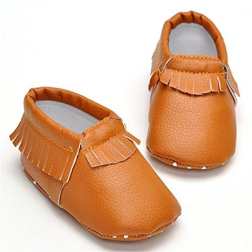 Cáqui Bebê Walker Borla Criança Jovem Sapatos Mocassins Estamico R85q00