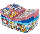 Paw Patrol Kinder Brotdose mit 3 Fächern, Kids Lunchbox,Bento Brotbox für Kinder - ideal für Schule, Kindergarten oder Freizeit