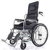 Rollstuhl Multifunktions-Halb Liegend Transport Folding Tragbarer Reise-Stuhl Für Ältere Menschen Mit Behinderungen Töpfchen