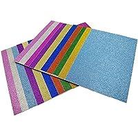 20 pz Carta Glitter Adesiva Carte Colorate Adesive Fogli Colorati Adesivi Carta Glitter Adesivi per Lavoretti Cartoncini Glitter Adesivi Carta Glitterata Multicolori 10cm*15cm