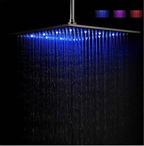 GS~LY testa di doccia/Contemporanee/LED/Acciaio Inox/ottone cromato/Olio di bronzo strofinata/Modifica colore LED Luce/pioggia , Soffione doccia,N