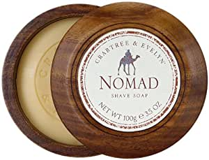 Crabtree & Evelyn Nomad Shave Soap with Wooden Bowl, 100g