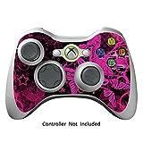 Xbox 360 Controller Designfolie Sticker - Vinyl Aufkleber Schutzfolie Skin für Xbox 360 Controller - Pink Butterfly
