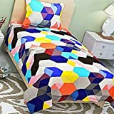 Choice Homes 3D Printed 154 TC Single Bedsheet With Pillow Cover Combo