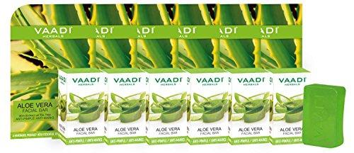 Vaadi Herbals Aloe Vera Facial Bars with Extract of Tea Tree, 25g (Pack of 6)