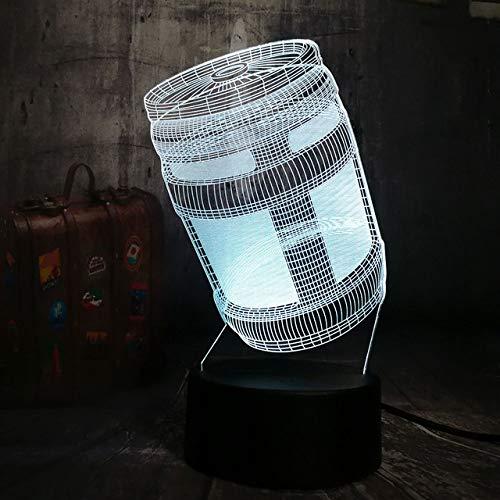 Luz De Noche 3D Lustre Battle Royale Juego Pubg Tps Chug Jug 3D Led Luz de Noche Lámpara de Escritorio Niño Juguete Regalo de Navidad