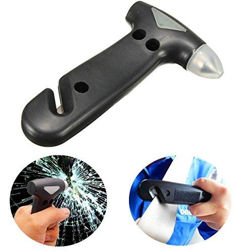 CAMTOA Notfallhammer lebensrettende Hammer Gurtschneider 2 in 1 Werkzeug für Auto Fenster Glas Sicherheit Entfliehen Hammer