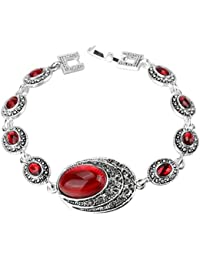 Shining Diva Fashion AAA High Quality Oxidised Silver Jewellery Traditional Bangle Bracelet For Women & Girls