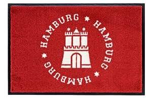 "Gift Company 50035 Tapis ""Hamburg"" Rouge 75 x 50 cm"
