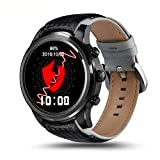 CYGG Fitness-Aktivität Tracker Smart Watch Telefon Android 5.1 MTK6580 Quad Core 1 GB / 8 GB 3G Wifi Bluetooth Handgelenk Smartwatch Männer Armbanduhr mit GPS-Navigation (Schwarz)