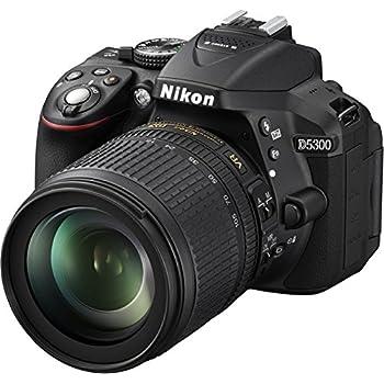 """Nikon D5300 - Cámara réflex digital de 24.2 Mp (Pantalla 3.2"""", estabilizador óptico, vídeo full HD), negro - kit con objetivo AF-S DX 18-105mm VR [importado]"""