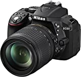 Nikon D5300 SLR-Digitalkamera (24,2 Megapixel, 8,1cm (3,2 Zoll) LCD-Display, Full HD, HDMI, WiFi,...