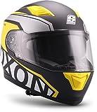 """Soxon  ST-1000 Race """"Yellow"""" (Gelb)  Integral-Helm  Sturz-Helm Motorrad-Helm Scooter-Helm Full-face Roller Cruiser  ECE zertifiziert  inkl. Sonnenvisier  Click-n-Secure Verschluss  L (59-60cm)"""