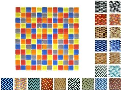 1 Qm Glasmosaik 23 Glanz Buntmix von Mosaikdiscount24 auf TapetenShop