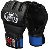 Ring Fight MMA UFC Grappling Gloves Thumb Protection Black/Blue