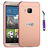 HTC One M9 Hülle, Moonmini Aluminiummetallstoß zurück