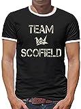 Touchlines Merchandise Team Scofield Kontrast T-Shirt Herren L Schwarz