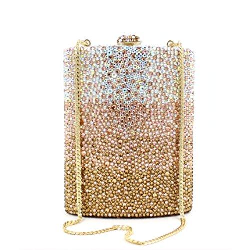 Abendbeutel Der Europäischen Und Amerikanischen Stil Kristall Voller Diamantschneider Tasche Trapez Messenger Tasche Schwarz-Weiß OneColor