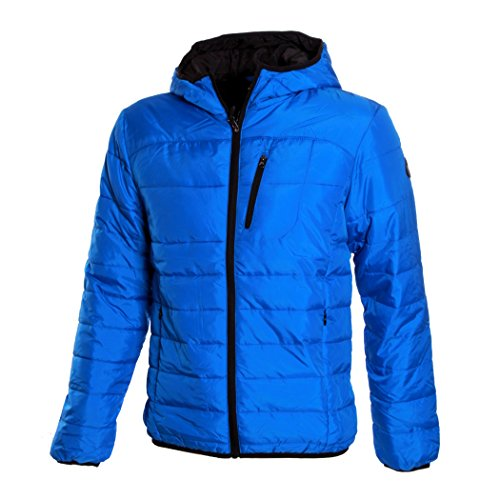 Giubbino Piumino DIADORA Uomo 100 Grammi Full Zip Cappuccio 3 Colori Art.089 ( Micro Blue - 52 / XL)