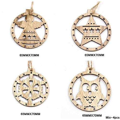 DUNDUNGUOJI Other Arts/Crafts Wood Craft Christmas Wooden Pendants Ornaments Kids DIY Xmas Tree Ornament Christmas Party Dekorationen Remix - 1011