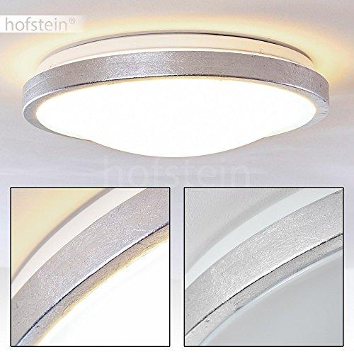 LED Deckenspot in Silber-Optik - Sora Badezimmer Deckenlampe – Deckenlicht auch für Flur, Wohnzimmer, Diele – 3000 Kelvin warmweißes Licht – 1380 Lumen – 18 Watt – runde, 1-flammige Zimmerleuchte