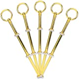 5 Set golden Farbe rund Motive mini Metallstange Mittellochausstech 2 bis 3 Etage Etagere für Hochzeitstorte Tortenständer Tortenhalter Torten