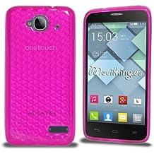 Funda Gel SILICONA de Color Rosa para Alcatel One Touch Idol Mini (OT-6012) - Orange Hiro