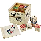 Generic ABC 123 Wooden Blocks Letters Numbers with Box Storage Case, Wooden (27 Pieces)