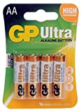Batterien AA Mignon LR06 Alkaliine 1,5V GP Batteries Ultra Plus (4er Pack)