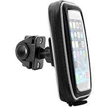 Arkon Smartphone Bike Handlebar Mount with Water Resistant Holder for iPhone 6 Plus iPhone 6 Samsung Galaxy S6 S5 S4 Note 4 3