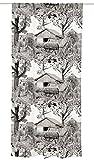 Vallila Heinänkorjuu, Landschaft Muster, Vorhang 140x250 cm, Clay, Baumwoll-Mischgewebe, grau, 250 x 140 cm
