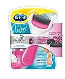 Scholl Velvet Smooth Express Pedi elektrischer Hornhautentferner mit Diamantpartikeln, Pink, + 2 Ersatzrollen, Super-Vorteilspack