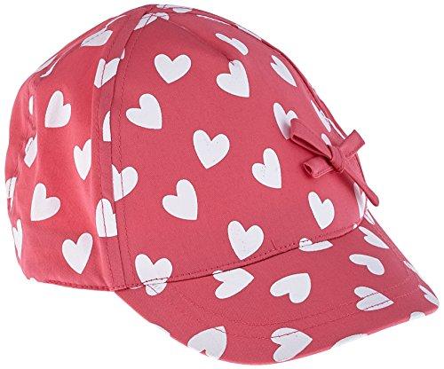 maximo Mädchen Kappe Basecap Herzen mit Schleife, Rosa (Pink Rose 64), 53/55