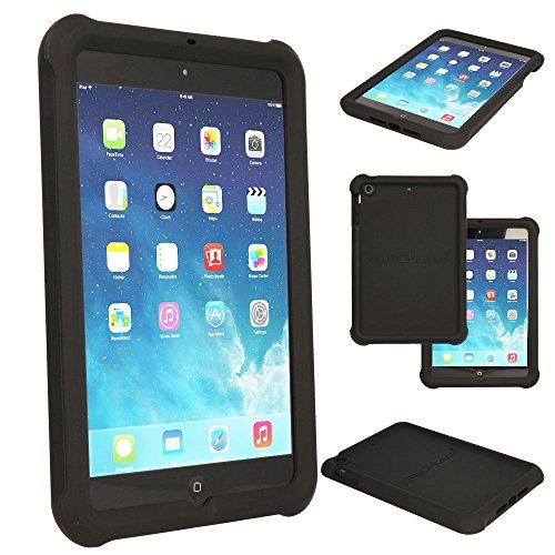 TECHGEAR Schutzhülle für Apple iPad Mini 1 2 3, [Kids Friendly] Leichtes Koffer Silikon Soft Shell Anti-Rutsch-Shockproof verstärkte Ecken + Displayschutzfolie. - Schwarz