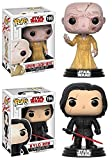 Funko POP! Star Wars The Last Jedi: Supreme Leader Snoke + Kylo Ren - Stylized Vinyl Bobble-Head Figure Set NEW