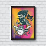 Motivate Box India, Cool, Trendy, Quirky Rolled Posters,Punk Baba Drumroll Design, Add Some Quirkiness To Your Walls (12 X 18 In), Wall Frames Are Not Included - Only Posters