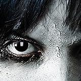 Black Witch, schwarze 3-Monatslinsen, PAAR, schwarz, Hexe, The Walking Dead, Zombie, Katze