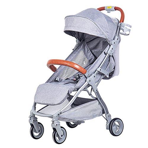 Peixia Department Store Kinderwagen High Landscape Kinderwagen Klapp-Kinderwagen Geeignet für 0-36 Monate Baby Buggy Stroller Babywagen (Farbe : 2#)
