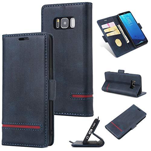 Galaxy S8 Plus(6,2 Zoll) Handyhülle [Premium Leder] [Standfunktion] [Kartenfach] [Magnetverschluss] PU Schlanke Leder Brieftasche für Samsung Galaxy S8 Plus(6,2 Zoll) #1 (4) -